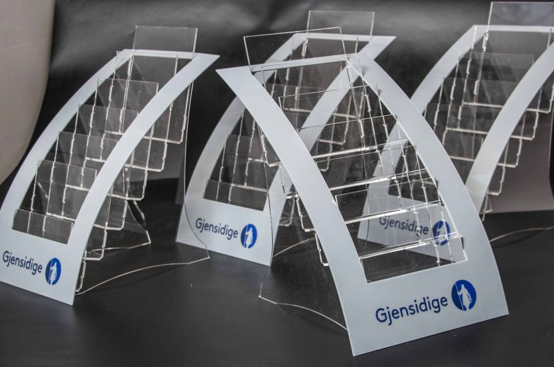 "Plastic display for ""Gjensidige"""