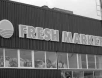 """Aluminum channel letters """"Fresh market"""""""