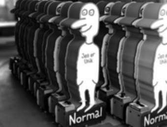 """Wall display for """"Jeg er Unik Normal"""""""